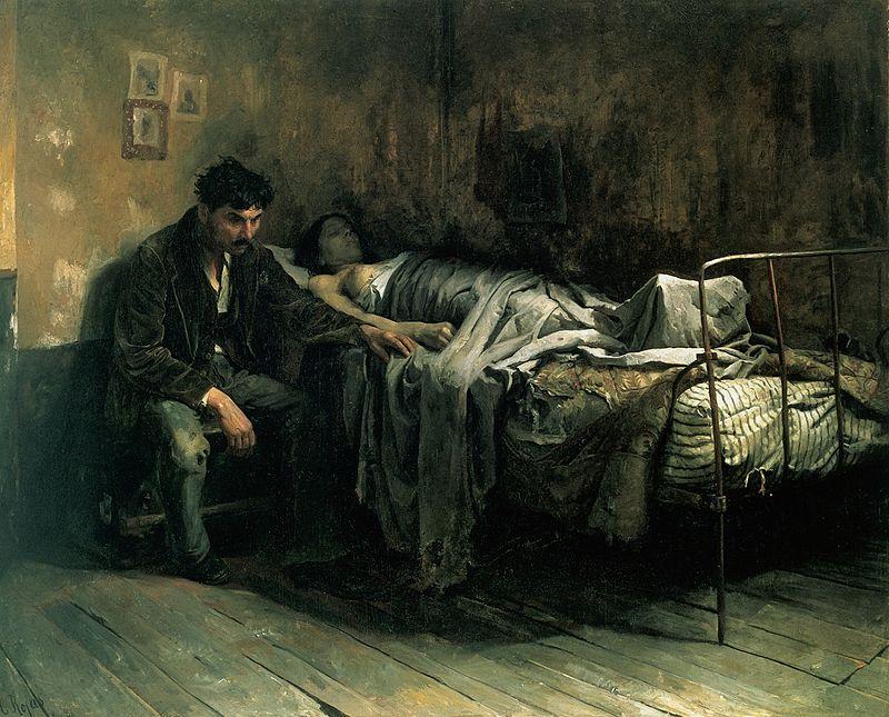 Cristóbal Rojas, La Miseria, 1886, Galería de Arte Nacional, Caracas