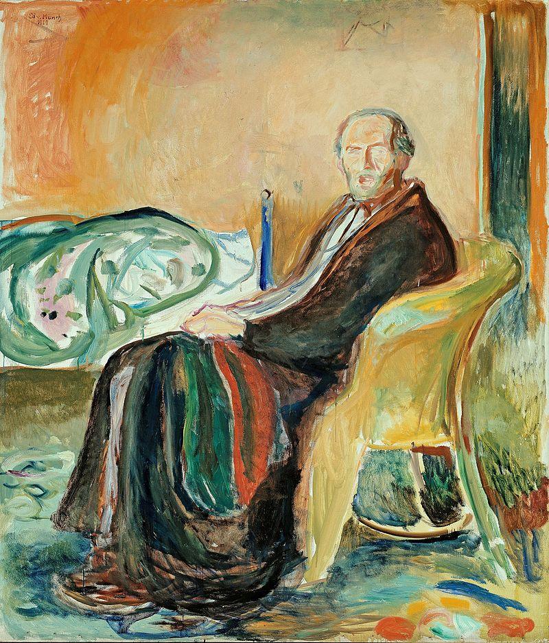 Edward Munch, Autoritratto con Influenza Spagnola, 1919, Galleria Nazionale, Oslo