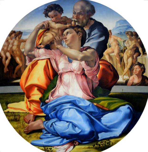 Michelangelo Buonarroti, Tondo Doni, 1504–1506, Galleria degli Uffizi, Firenze