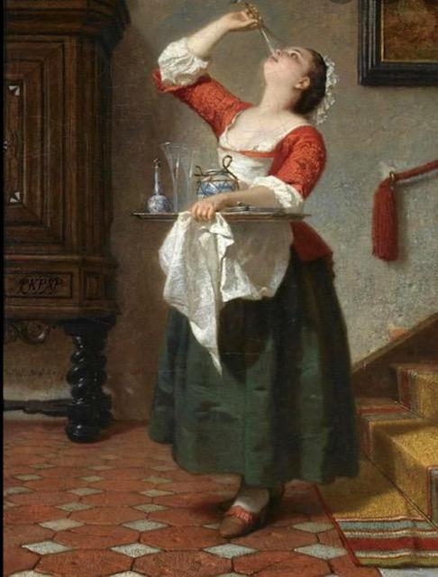 Wilhelm Amberg, La  cameriera, 1862, Fairfax House, York