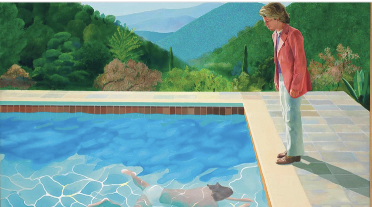 David Hocnkey, Portrait of an Artist (Pool with Two Figures),  1972, Collezione privata