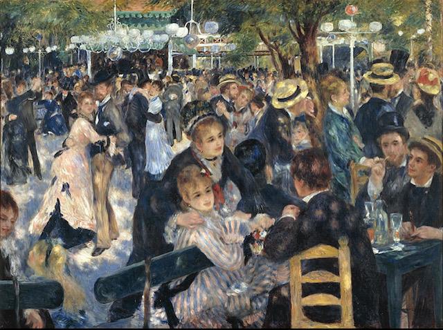 Auguste Renoir, Bar au Moulin de la Galette, 1876, Museo D'Orsay, Parigi