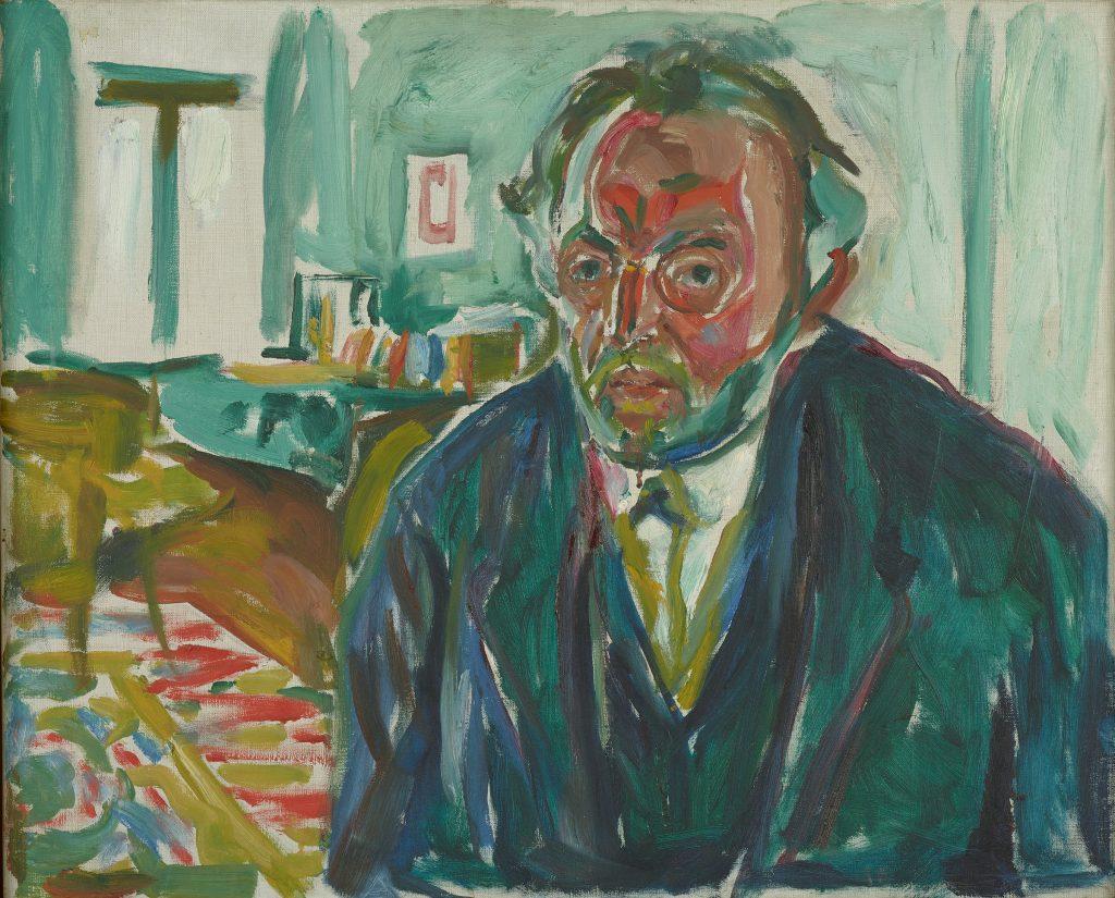 Edward Munch, Autoritratto dopo l'influenza spagnola, 1919, Museo Munch, Oslo