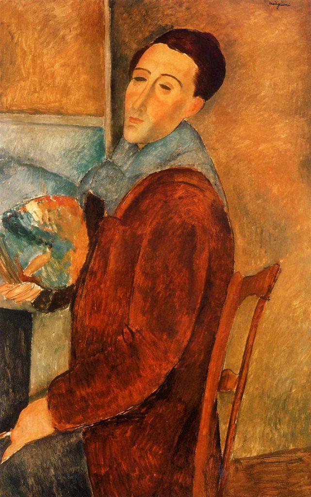 Amedeo Modigliani, Autoritratto, 1919, Museo de Arte de Sao Paulo (MASP), Sao Paulo,