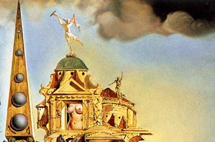 Salvador Dalì, Particola da La Tentazione di Sant'Antonio, 1946, Museo Reale delle Belle Arti, Bruxelles Ode agli Elefanti Surreali(sti)