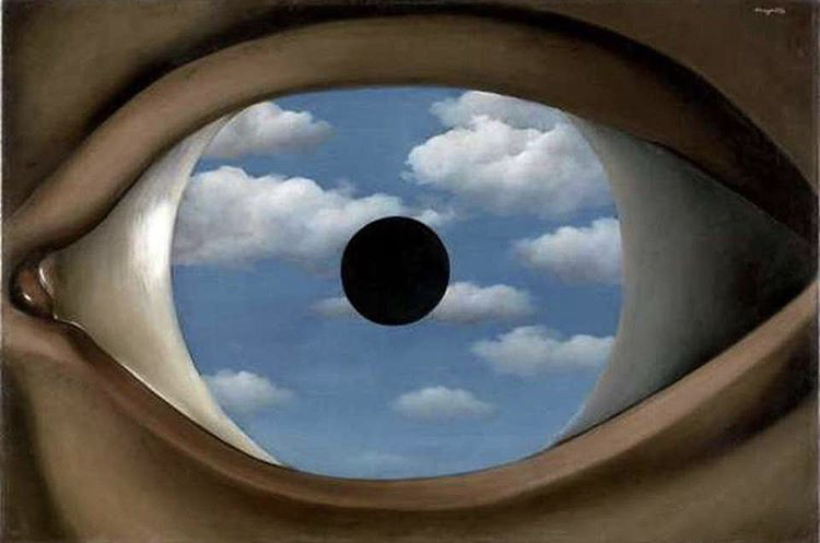 "René Magritte, ""Il falso specchio"", 1928, The Museum of Modern Art, New York"