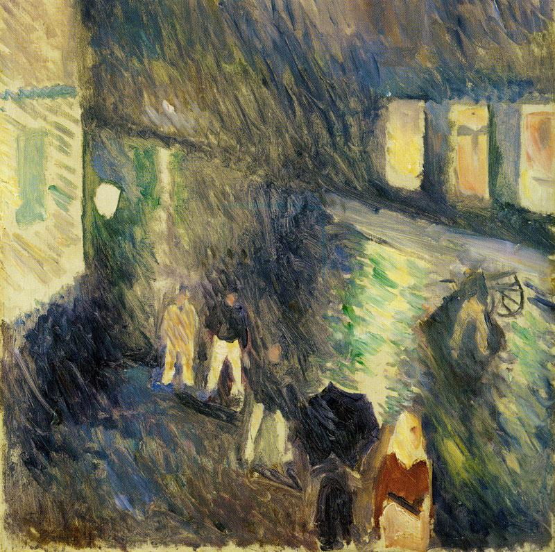 """Edward Munch, """"Pioggia d'Autunno"""", 1892, Collezione privata"""