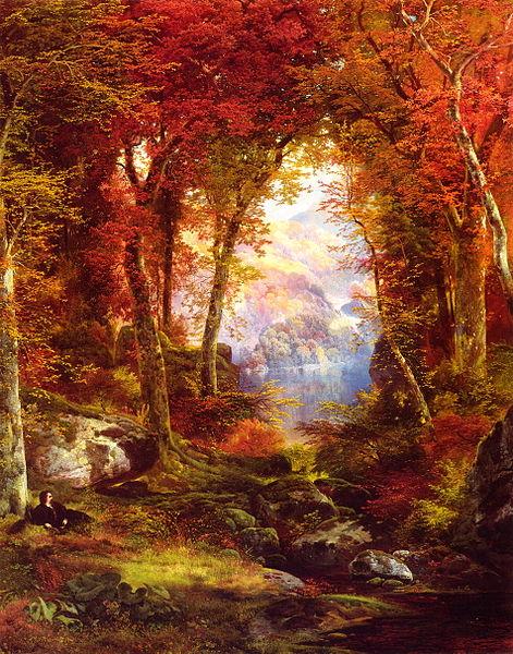 """Thomas Moran """"Sotto gli alberi"""", 1865, Collezione Privata"""