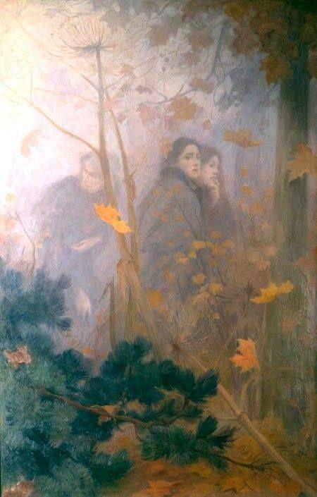 """Victor Prouvé """"La visione dell'Autunno"""", 1889,  Museo - Scuola di Nancy, Francia"""