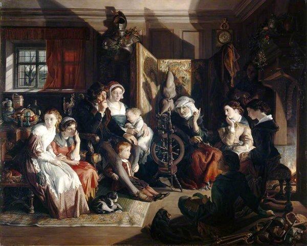 "Daniel Maclise, ""Un Racconto di una notte d'Inverno"", 1867"