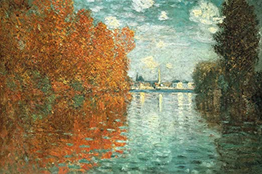 "Claude Monet, ""Effetto d'Autunno ad Argenteuil"", 1873, Courtauld Galleries, Somerset House, Londra"