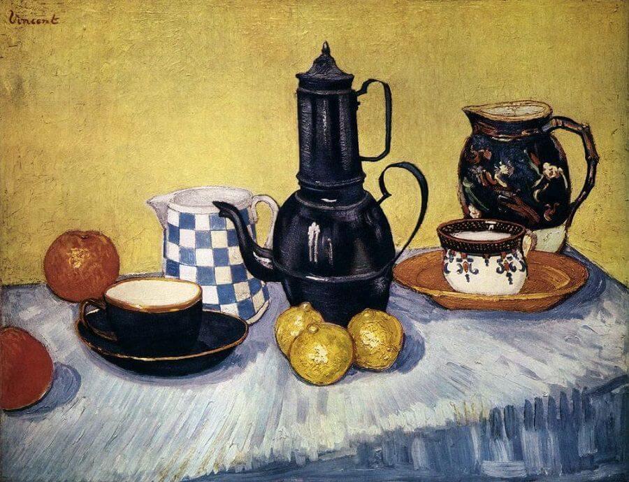 """Vincent Van Gogh """"Natura Morta con caffettiera"""",1888"""