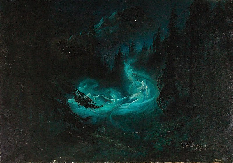 """Karl Wilhelm Diefenbach: """"The Fairy Dance"""", 1895, Private collection"""