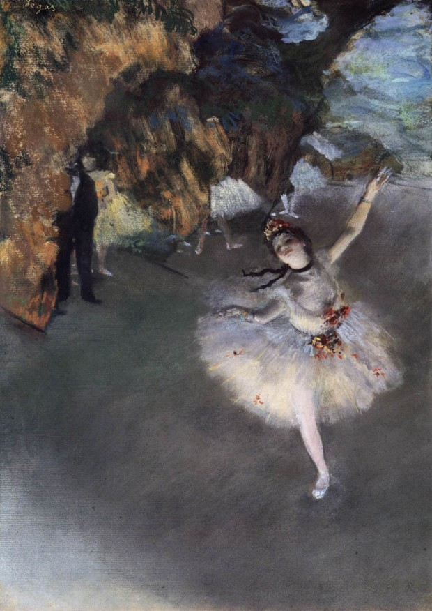 Edgar Degas,  The Star  (Ballerina on the stage) , 1878, Musée d'Orsay, Paris.