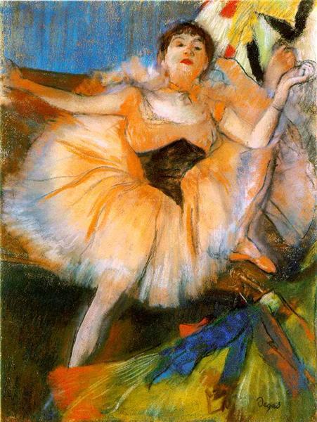 Edgar Degas,  Seated Ballerina, 1879- 1880, Ermitage Museum, Saint Petersburg