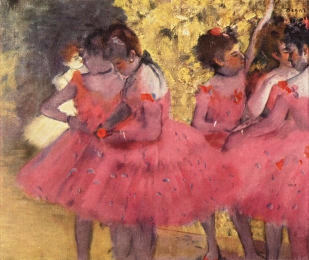 Edgar Degas, Pink dancers before the ballet, 1884, Ny Carlsberg Glyptotek, Copenhagen